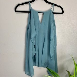 Maurice's Teal Keyhole Neck Tank Top